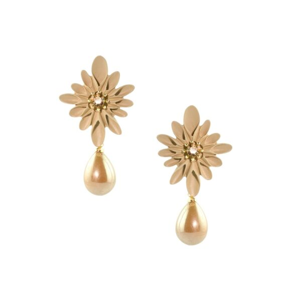 Floral Pearl Small Earrings