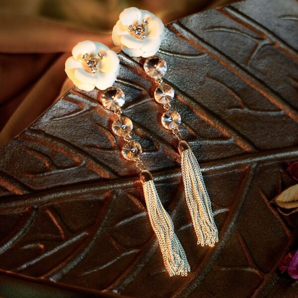 Floral Stone Studded Earrings