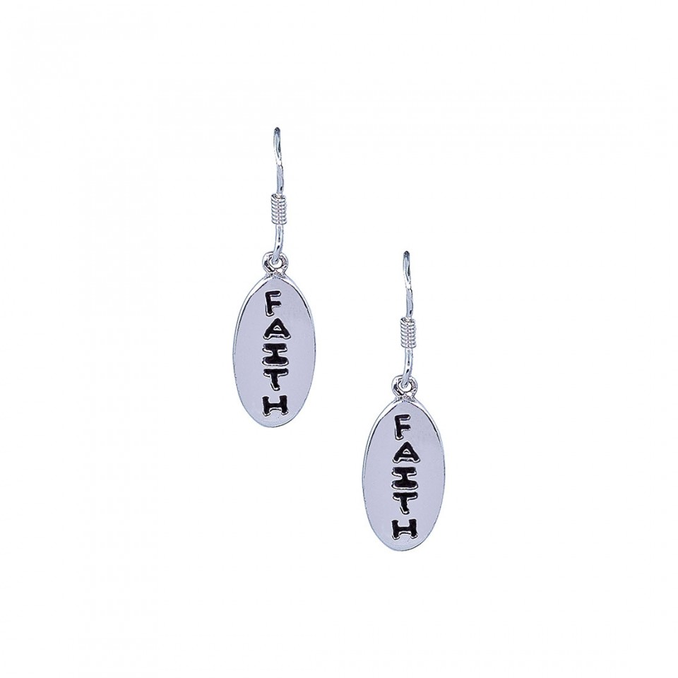 Silver Earrings with Message