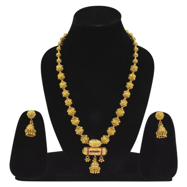 Antique Long Necklace with Jhumkies