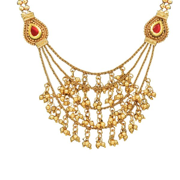 Antique multi layered necklace with Earrings