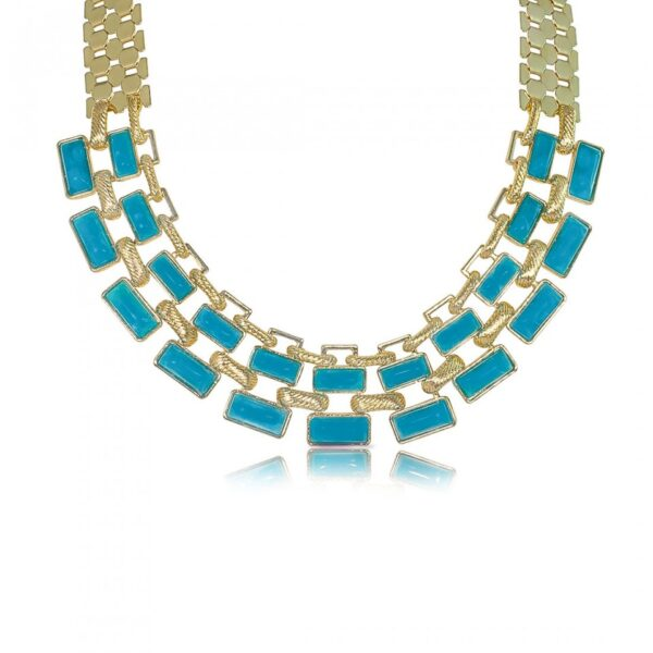 Colorful Resin Studded Necklace