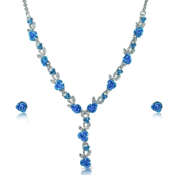 Floral Necklace with Earrings