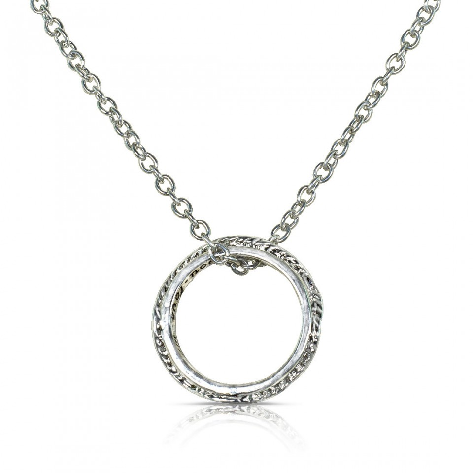 Gold or Platinum Plated Ring Pendant
