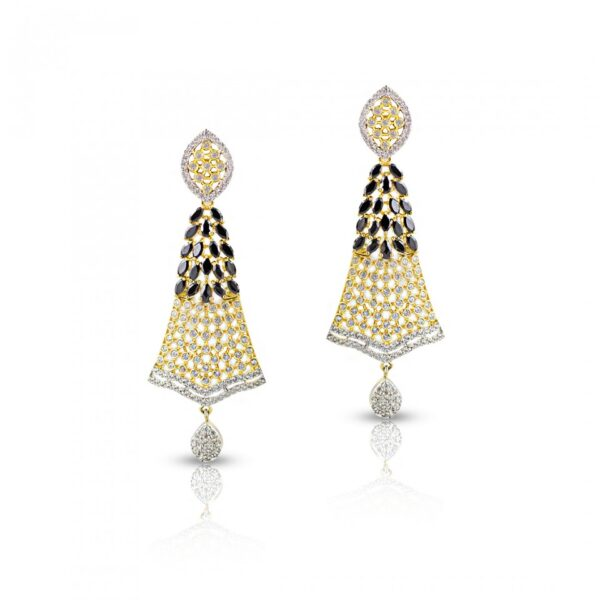 Golden Color AD & Stone Studded Jhumkies