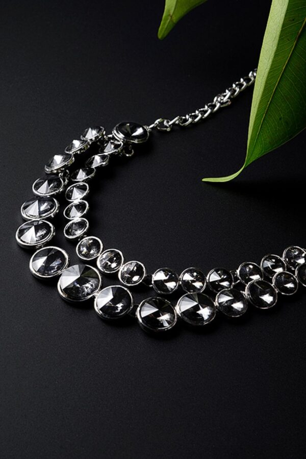 Twin Layered Crystal studded Necklace