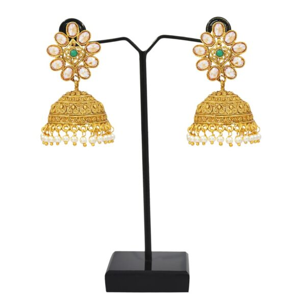 Floral Style Gold plated Jhumkies