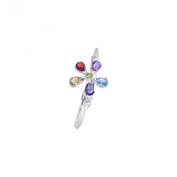 Flower Fusion studded with Gemstones