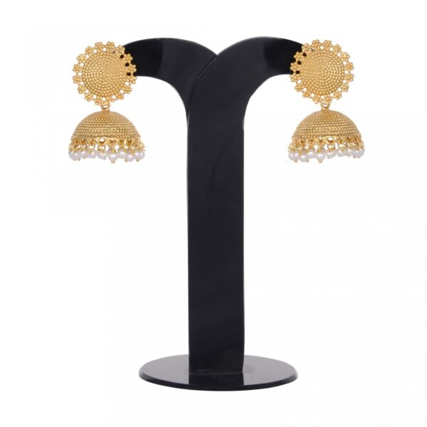 Gold Plated Self Designed Small Jhumkies