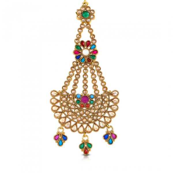 Multi colored stone studded Jhumer