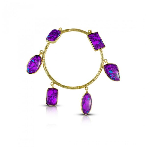 Purple Mohave Turquoise hangings bangle